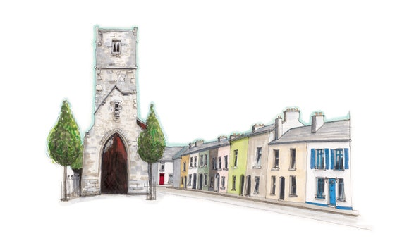 "12""x8""Red Abbey, Cork"