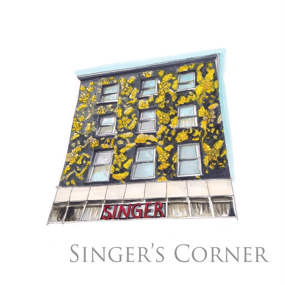 "Singers corner, Grand Parade, Cork city, Cork. 7""x7"""