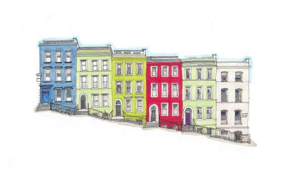"Patrick's Place, Patrick's hill, Cork city, Cork12""x8"""