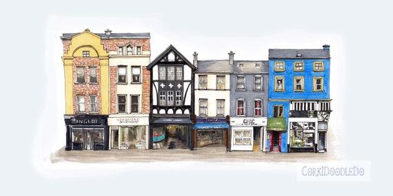 """Winthrop Arcade, Oliver Plunkett street, Cork city, Cork. 12""""x8"""""""