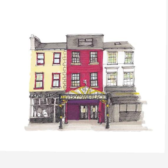 "the Everyman Theatre, Cork city, Cork.  7""x7"""