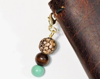 Floral Beaded Charm- Turquoise