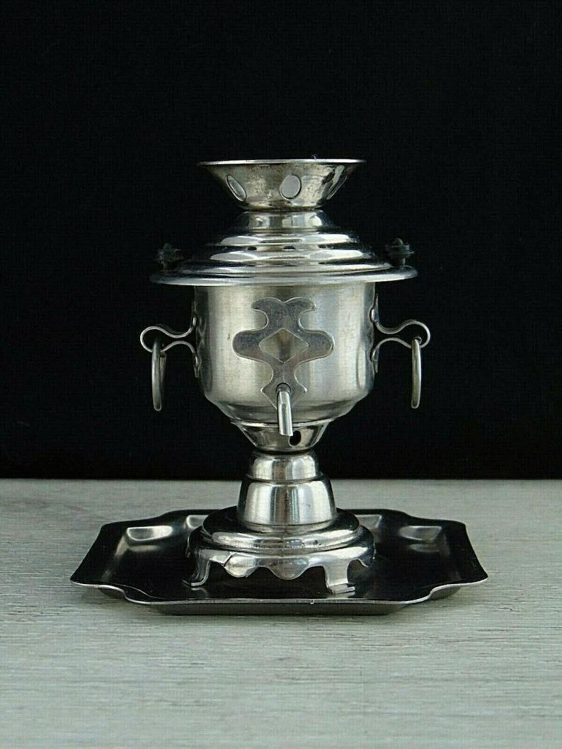 Small souvenir USSR Soviet Stainless steel. Samovar Miniature