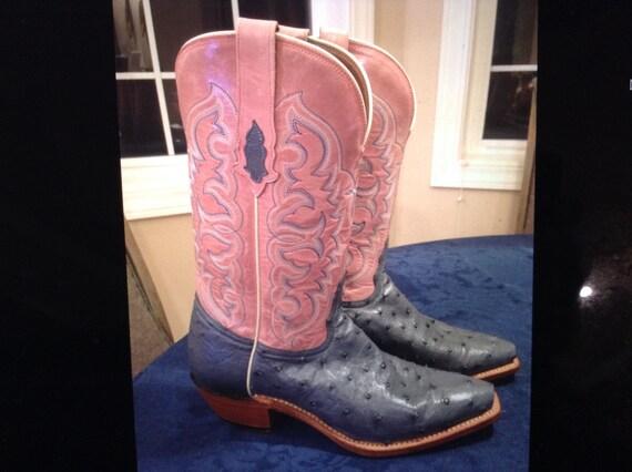 Bottes de Cowboy d'autruche Tony Lama Full Quill   Moins Moins Moins Coûteux  28c32d