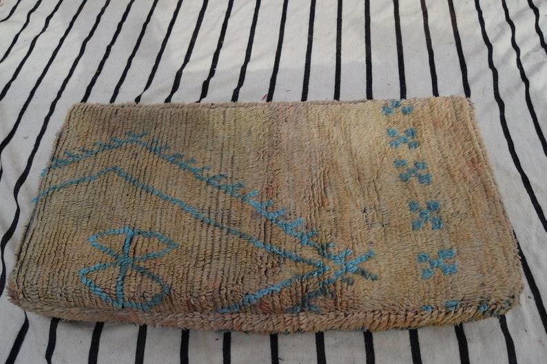 Kilim pouf Embroidered pouf Handmade Sabra pouf Moroccan poufs Decorative pouf Floor Pouffe Home decor Vintage pouf Azilal Berber poufs