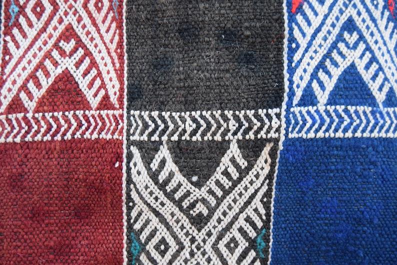 Vintage pouf Decorative pouf Floor Pouffe Embroidered pouf Berber poufs Moroccan poufs Kilim pouf Handmade Sabra Home decor