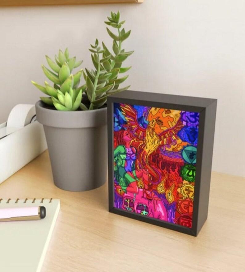 Spirit of the Flame Framed Mini Art Print
