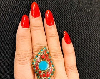 Bold and Beautiful Antique Style Statement Ring