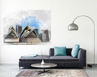 Sydney Opera House Architectural Sketch