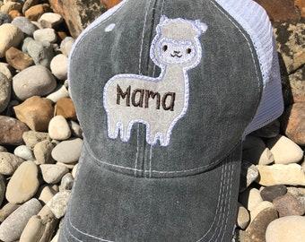 Mama Llama Appliqué Hat