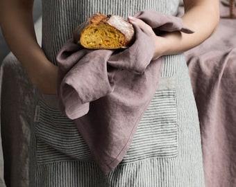Linen tea towel. Woodrose linen hand towel. Stonewashed soft dish towel. Kitchen towel. Natural linen dishclothes