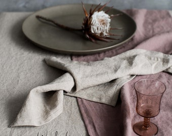Linen napkin. Washed soft linen table napkin. Natural stonewashed linen napkin set of 4 6 8 10 12. Gray table decor