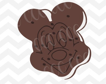Mickey Mouse Ice Cream Sandwich SVG Cutting File