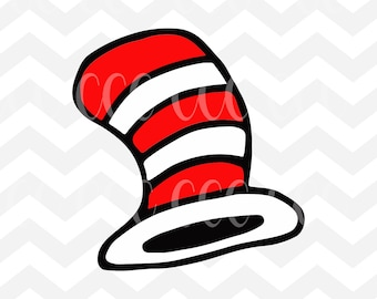 The Cat In The Hat's Hat Dr. Seuss SVG Cutting File