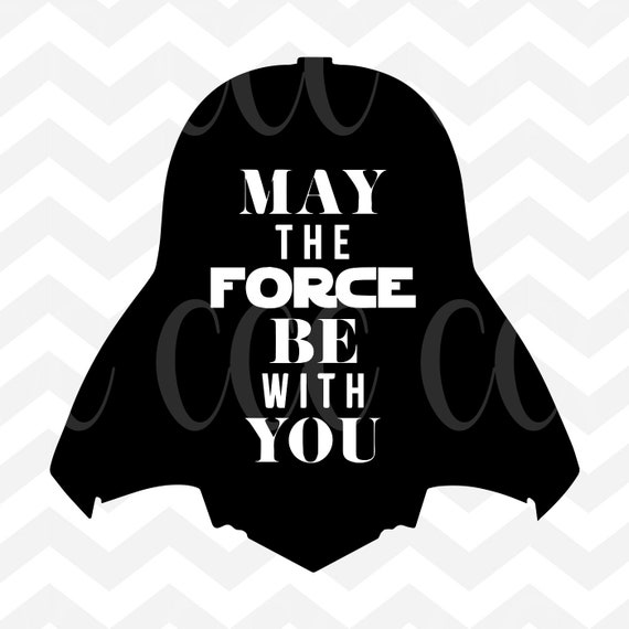Darth Vader Silhouette May The Force Be With You Svg Cutting Etsy