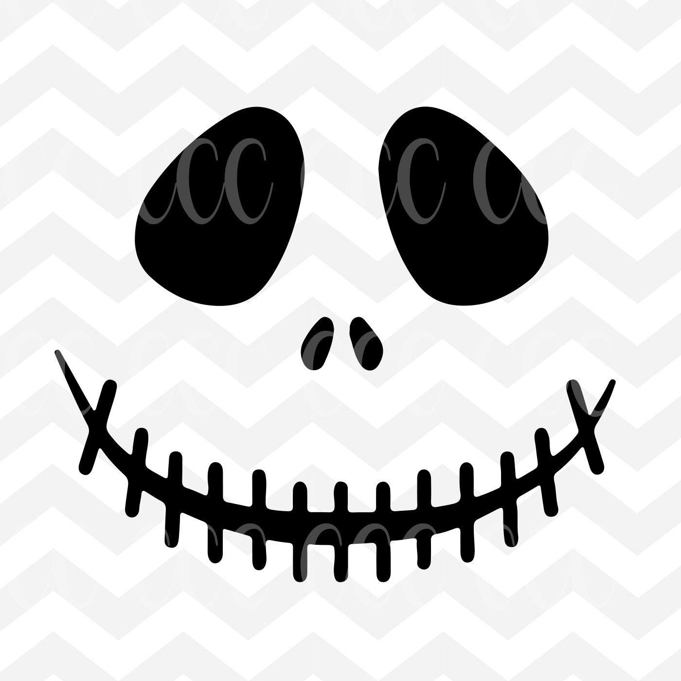 Jack Skellington Face The Nightmare Before Christmas SVG ...  The Nightmare Before Christmas Jack Makeup