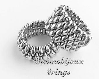 Handmade rings Silver-colored