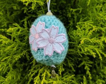 Blue Cherry Blossom Egg