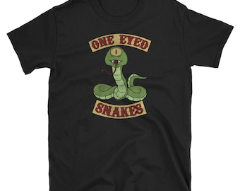 ONE EYED SNAKES PATCH iron on biker gang jacket BOBS bob/'s burgers penis humor