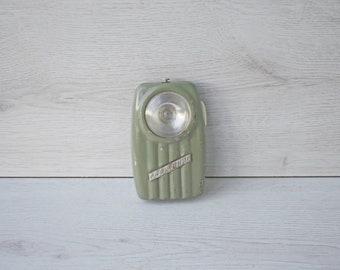 """Vintage Flashlight """"Svetlina"""",  Vintage Pocket Flashlight, Vintage Pocket Torch,Collectible Flashlight, Vintage gift, 1970s flashlight"""