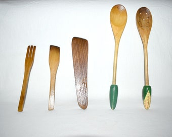 Old Spoons, Old Kitchen Cooking Tools, Cooking Utensils, Wooden Spoons