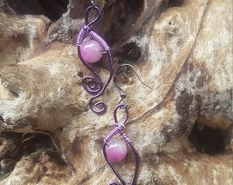 Wirewrapped Malaysia Jasper Earrings