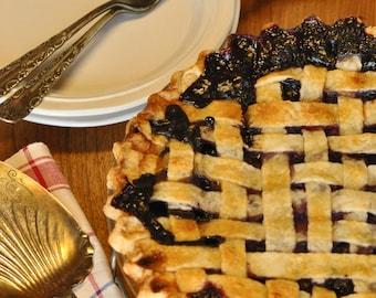 Blueberry Pie Recipe, Blueberry Pie, Digital Blueberry Pie Recipe, Printable Blueberry Pie Recipe