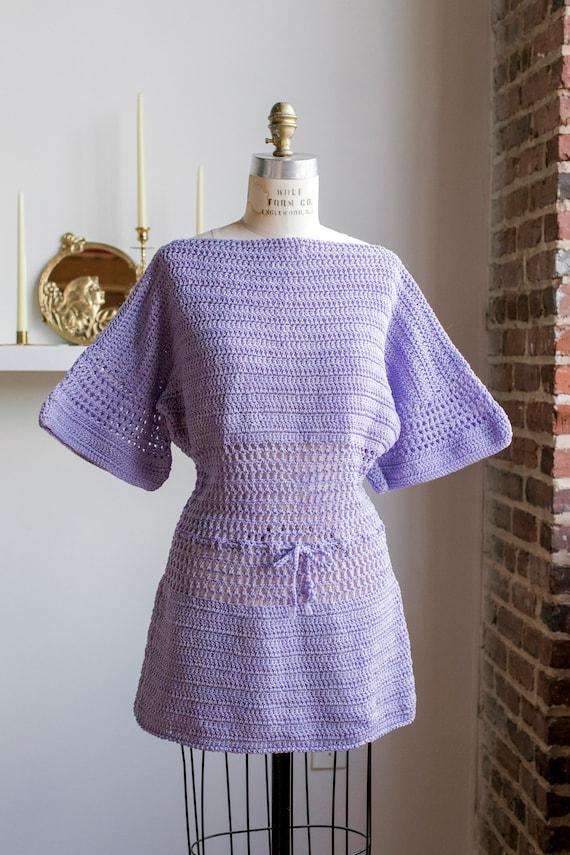Handmade Lavender Crochet Dress