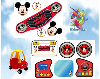 New Little Tikes Tykes MICKEY MOUSE Cozy Coupe Decals Stickers