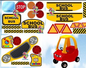 New Little Tikes Tykes Cozy Coupe Decals Stickers SCHOOL BUS