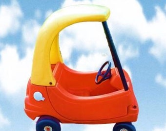 New Little Tikes Tykes Vintage Cozy Coupe Decals Stickers CUSTOM
