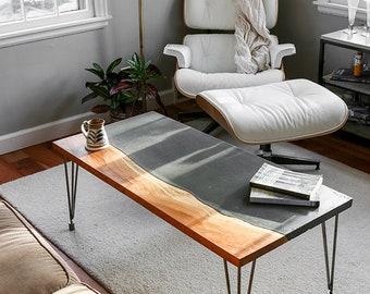 Concrete Slab Table Etsy - Concrete slab coffee table