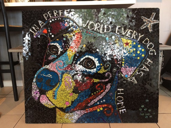 Pit Bull In A Perfect World Every Dog Has A Home Dog Dean Russo Drink Coaster