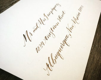 Custom Hand Lettered/Calligraphy: Envelope Addressing for any occasion