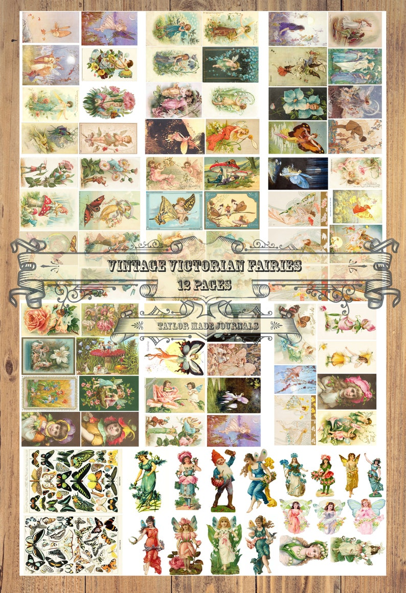 picture about Free Printable Ephemera referred to as Classic Fairies Electronic Printable Ephemera Package -12 webpages-91 pictures,collage package,Junk Magazine Ephemera,Ephemera,magazine package,Printable package,