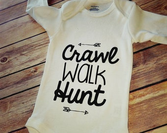 b95e6354 Crawl walk hunt outfit. Baby boy outfit.Baby girl oufit.Dad gifts.Pregnancy  Announcement.Baby Shower Gifts.Baby Hunting Outfit.Hunting Baby
