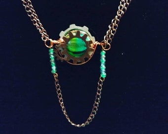 Oceanic Glass Engine Steampunk Choker