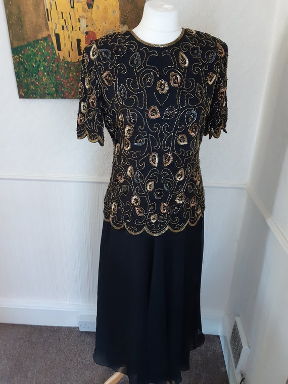 Vintage 1990s does 1920s Canda C&A beaded sequined
