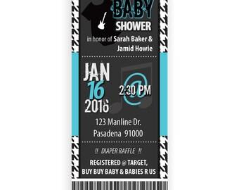 Rock Concert Baby Shower Invite