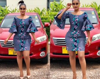 Newest Product For Women Kitenge Fashion 2019 Dresses