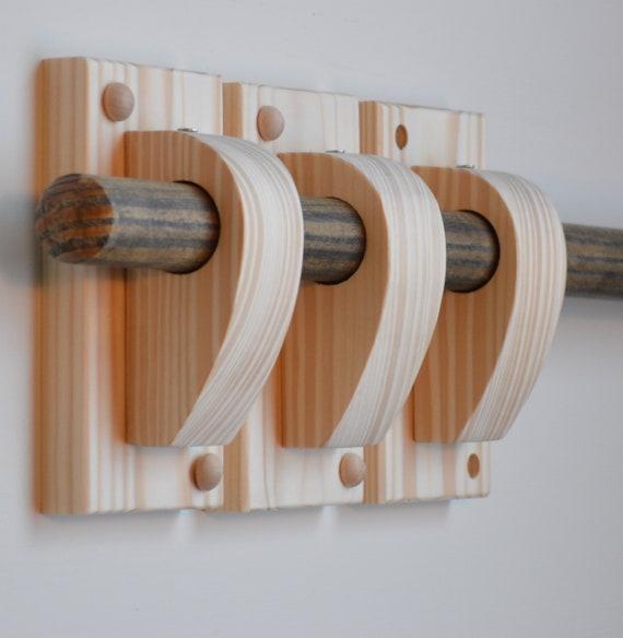 300cm Antique Pine Universal Wooden 28mm Complete Curtain Pole Set