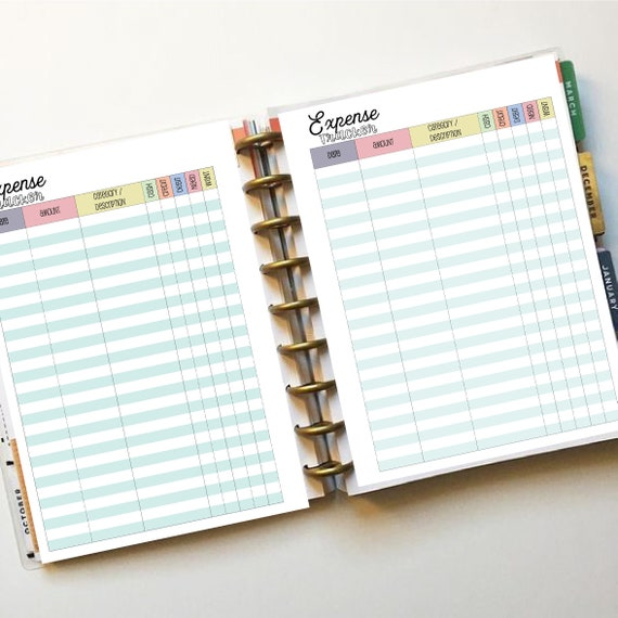 Happy Planner - Classic Size - Budget Printable - Full extension pack