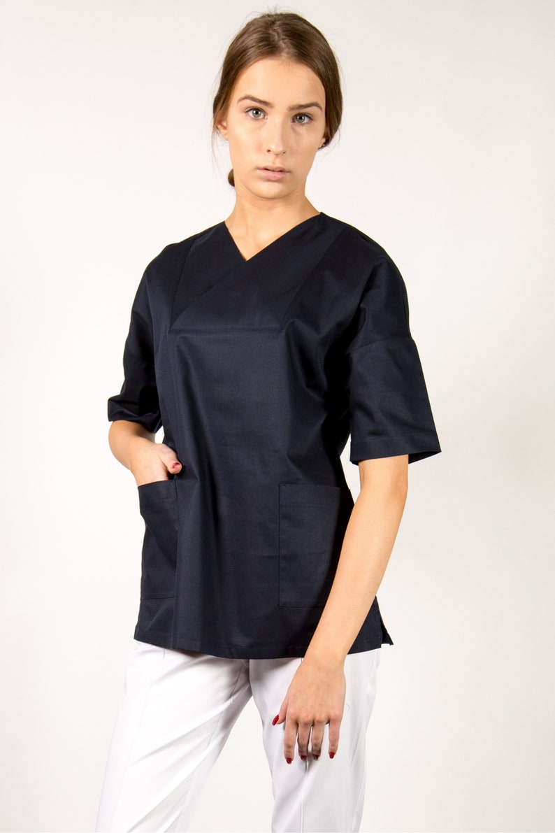 ea619ac0232 Boho Style medical scrub top for women Assistant shirt Doctor