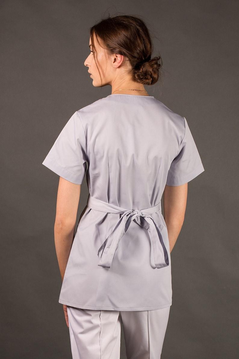 5df5241c77d Boho Kimo Medical women scrub top SPA uniform Hospital nursing