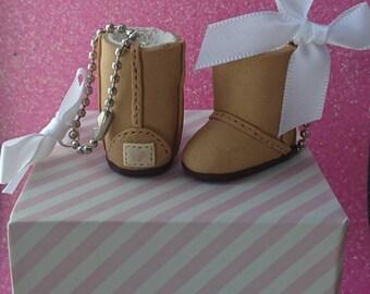 Boot bag charm /key ring! Handmade, ugg style, keychain, charm, cute, miniature