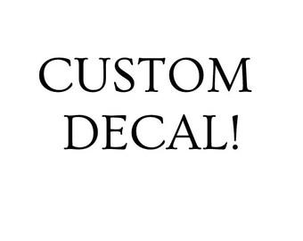 Custom decals!!!