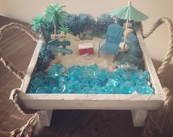 Beach fairy garden   Etsy