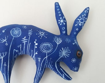 Beautiful handmade rabbit artdoll