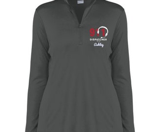 6df74085bb 911 Dispatcher Gift/ 911 Dispatcher Quarter Zip Pullover / Embroidered  Pullover/ 911 Dispatcher Personalized Gifts - PRN-080