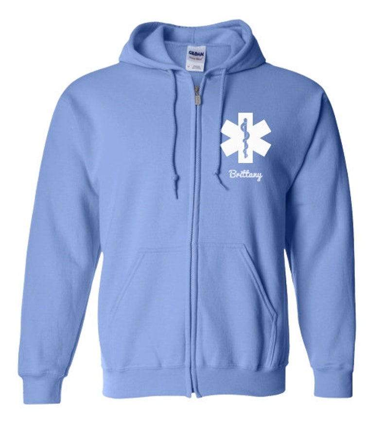 Emergency Nurse Asterisk Zip Up HoodieZip Up SweatshirtNurse Asterisk Personalization SweatshirtGift For Nurse Asterisk-PRN-012